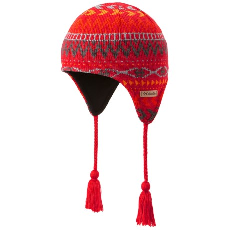 Columbia Sportswear Alpine Action Peruvian Omni-Heat® Hat (For Youth) in Bright Red Pattern