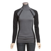 Columbia Sportswear Alpine Ice Turtleneck - Long Sleeve (For Women) in Grill/Black - Closeouts