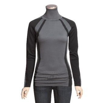 Columbia Sportswear Alpine Ice Turtleneck - Long Sleeve (For Women) in Grill/Black