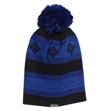 Columbia Sportswear Alpine Run Beanie Hat (For Men and Women) in Black/Dynasty/Azul - Closeouts