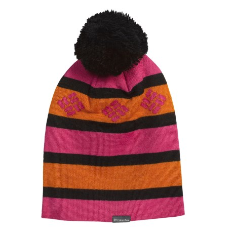 Columbia Sportswear Alpine Run Beanie Hat (For Men and Women) in Bright Rose/Black/Hot Shot
