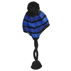 Columbia Sportswear Alpine Run Peruvian Beanie Hat (For Women) in Black/Azul/Dynasty