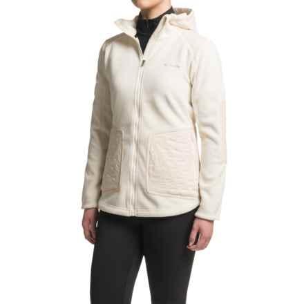 Columbia Sportswear Angels Crest Polartec® Fleece Jacket - Zip Front, Hooded (For Women) in Chalk - Closeouts