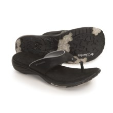 Columbia Sportswear Anjela Sandals - Thongs (For Women) in Black - Closeouts