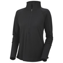 Columbia Sportswear Anytime Shirt - UPF 50, Zip Neck, Long Sleeve (For Women) in Black/Grill - Closeouts