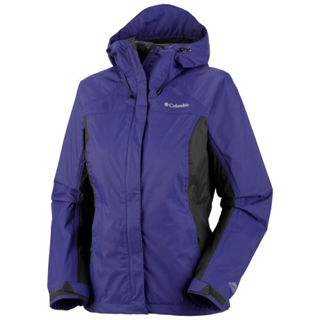 Columbia Sportswear Arcadia Rain Jacket - Waterproof, Hooded (For Women) in Light Grape/Gravel