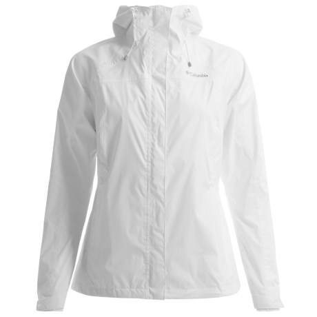 Columbia Sportswear Arcadia Rain Jacket - Waterproof, Hooded (For Women) in Sea Salt/Fawn