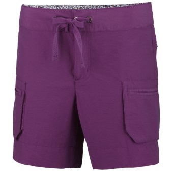 Columbia Sportswear Arch Cape II Cargo Shorts - UPF 15 (For Women) in Berry Jam