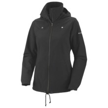 Columbia Sportswear Arch Cape II Jacket - UPF 15, Adventure Cloth (For Plus Size Women) in Black - Closeouts