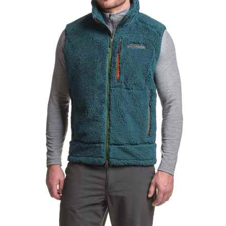 Columbia Sportswear Archer Ridge Omni-Wind® Block Fleece Vest (For Men) in Columbia Navy - Closeouts