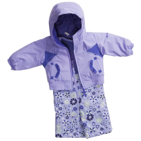 Columbia Sportswear Arctic Andrea Bib Snow Pants and Jacket - Insulated, Reversible (For Infants) in Sweet Pea