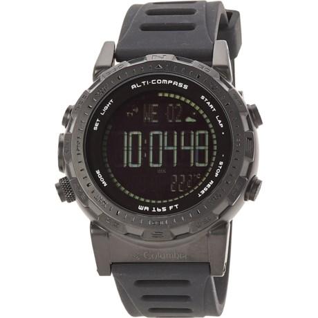 Columbia Sportswear Ascent Digital Silicone Strap Men's Watch
