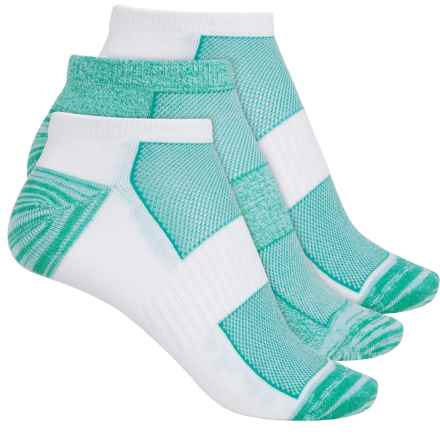Columbia Sportswear Athletic Marled No-Show Socks - 3-Pack, Below the Ankle (For Women) in White/Green - Closeouts