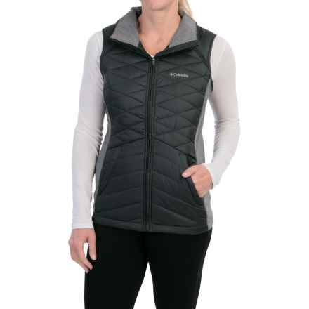 Columbia Sportswear Aurora's Glow Hybrid Vest - Insulated (For Women) in Black - Closeouts