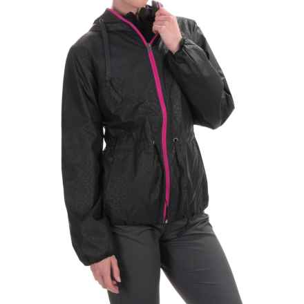 Columbia Sportswear Aurora's Wake II Omni-Shield® Rain Jacket (For Women) in Black Flower Emboss - Closeouts