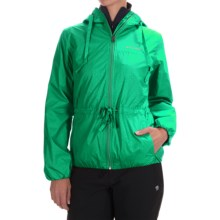 Columbia Sportswear Aurora's Wake II Omni-Shield® Rain Jacket (For Women) in Dark Lime Flower Emboss - Closeouts