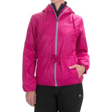 Columbia Sportswear Aurora's Wake II Omni-Shield® Rain Jacket (For Women) in Haute Pink Flower Emboss - Closeouts