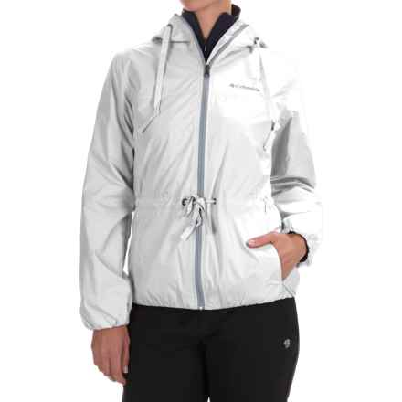 Columbia Sportswear Aurora's Wake II Omni-Shield® Rain Jacket (For Women) in White Flower Emboss - Closeouts