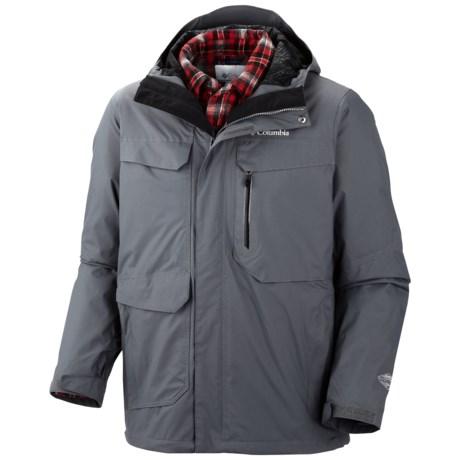 Columbia Sportswear Back to Hells Mountain Omni-Heat® Jacket - 3-in-1, Waterproof (For Men) in Grpahite