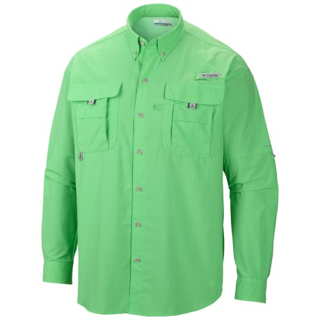 Columbia Sportswear Backcountry Bahama II PFG Fishing Shirt - Long Sleeve (For Men) in Chameleon Green