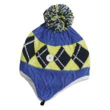 Columbia Sportswear Backcountry Bandit Ear Flap Hat - Fleece Lining, Titanium (For Women) in Bright Bluet Jacquard - Closeouts