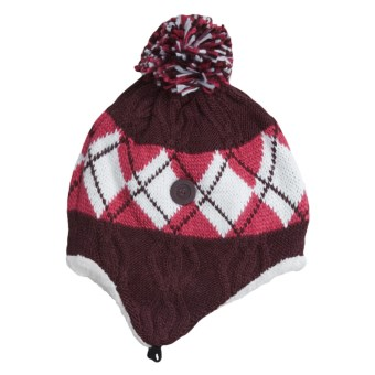 Columbia Sportswear Backcountry Bandit Ear Flap Hat - Fleece Lining, Titanium (For Women) in Elderberry Jacquard