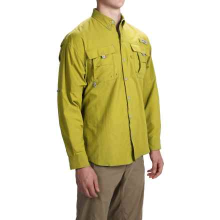 Columbia Sportswear Bahama II Fishing Shirt - UPF 30, Long Sleeve (For Big and Tall Men) in Mineral Yellow - Closeouts