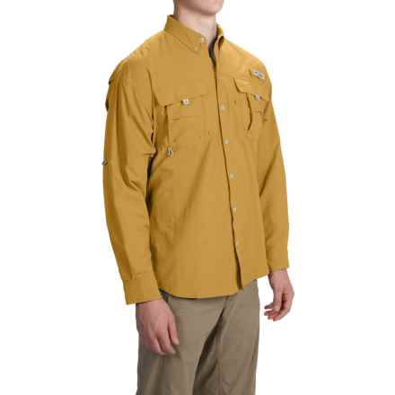 Columbia Sportswear Bahama II Fishing Shirt - UPF 30, Long Sleeve (For Big and Tall Men) in Pilsner - Closeouts