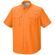 Columbia Sportswear Bahama II Shirt - UPF 30, Short Sleeve (For Big Men) in Orange Blast - Closeouts