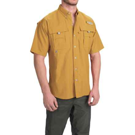 Columbia Sportswear Bahama II Shirt - UPF 30, Short Sleeve (For Big Men) in Pilsner - Closeouts