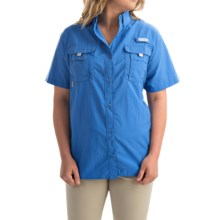 Columbia Sportswear Bahama Shirt - UPF 30, Short Sleeve (For Plus Size Women) in Stormy Blue - Closeouts