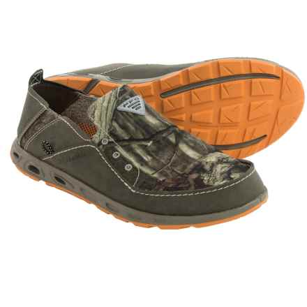 Columbia Sportswear Bahama Vent PFG Shoes - Leather-Canvas, Slip-Ons (For Men) in Mossy Oak/Orange Blast - Closeouts