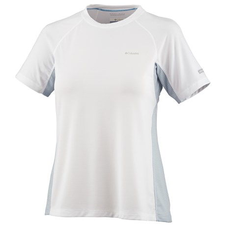 Columbia Sportswear Base Layer Bug Shield Top - Lightweight, Short Sleeve (For Women) in White