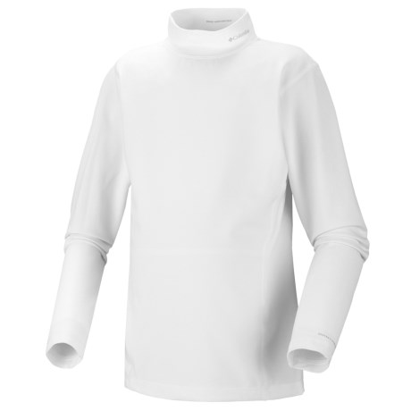 Columbia Sportswear Base Layer Mock Neck Omni-Heat® Top - Midweight, Long Sleeve (For Toddlers) in White