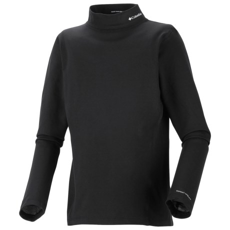 Columbia Sportswear Base Layer Mock Neck Omni-Heat® Top - Midweight, Long Sleeve (For Youth) in Bright Rose