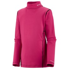 Columbia Sportswear Base Layer Mock Neck Omni-Heat® Top - Midweight, Long Sleeve (For Youth) in Bright Rose - Closeouts