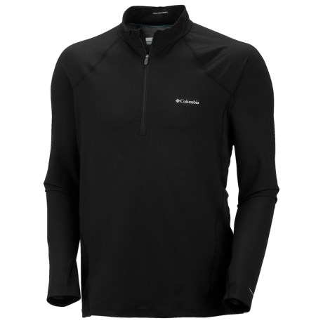 Columbia Sportswear Base Layer Omni-Heat® Top - Zip Neck, Midweight, Long Sleeve (For Men) in Black
