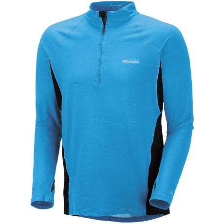 Columbia Sportswear Base Layer Omni-Heat® Top - Zip Neck, Midweight, Long Sleeve (For Men) in White