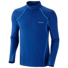 Columbia Sportswear Base Layer Omni-Heat® Top - Zip Neck, Midweight, Long Sleeve (For Men) in Royal - Closeouts