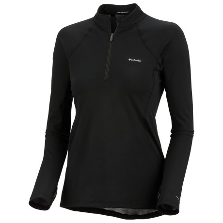 Columbia Sportswear Base Layer Omni-Heat® Top - Zip Neck, Midweight, Long Sleeve (For Women) in Black