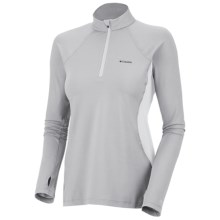 Columbia Sportswear Base Layer Omni-Heat® Top - Zip Neck, Midweight, Long Sleeve (For Women) in Cool Grey - Closeouts