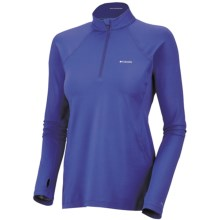 Columbia Sportswear Base Layer Omni-Heat® Top - Zip Neck, Midweight, Long Sleeve (For Women) in Light Grape - Closeouts