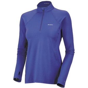 Columbia Sportswear Base Layer Omni-Heat® Top - Zip Neck, Midweight, Long Sleeve (For Women) in Light Grape