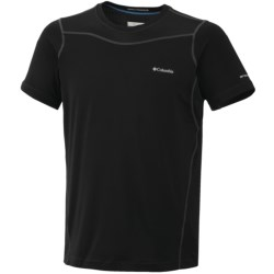 Columbia Sportswear Base Layer Top - Lightweight, Short Sleeve (For Men) in Black