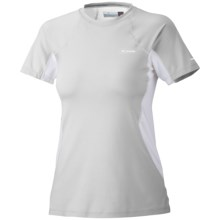 Columbia Sportswear Base Layer Top - Midweight, Short Sleeve (For Women) in Cool Grey - Closeouts