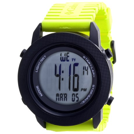 Columbia Sportswear Basecamp Sports Watch in Black/Lime