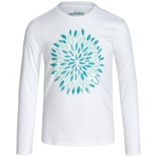 Columbia Sportswear Be Wild Graphic T-Shirt - Long Sleeve (For Little and Big Girls) in White - Closeouts
