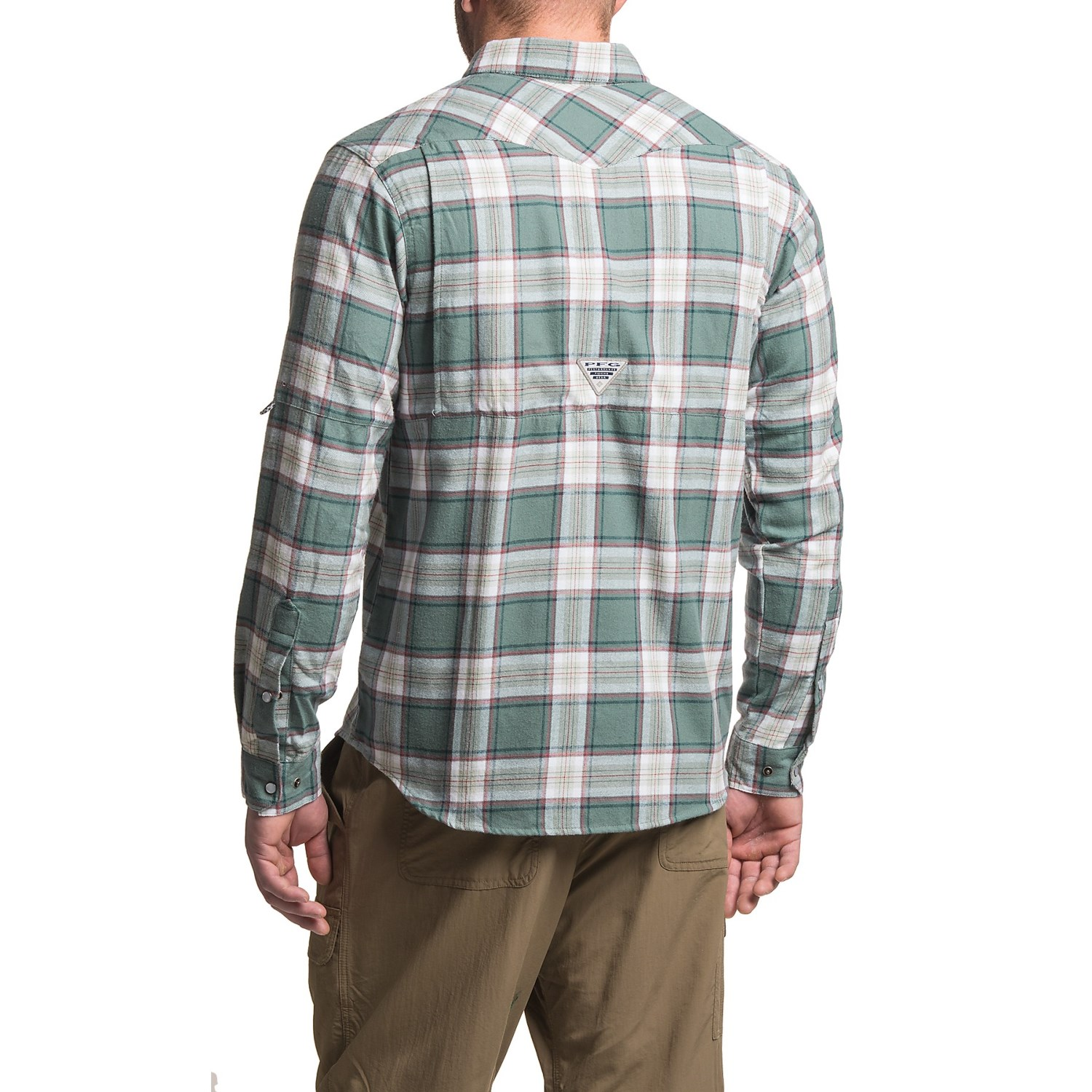 Columbia sportswear beadhead flannel shirt for men for Flannel checked long sleeve shirt