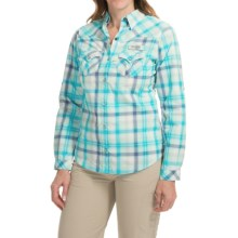 Columbia Sportswear Beadhead Omni-Wick® Fishing Shirt - UPF 30, Long Sleeve (For Women) in Atoll Check Plaid - Closeouts