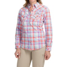 Columbia Sportswear Beadhead Omni-Wick® Fishing Shirt - UPF 30, Long Sleeve (For Women) in Wild Melon Plaid - Closeouts